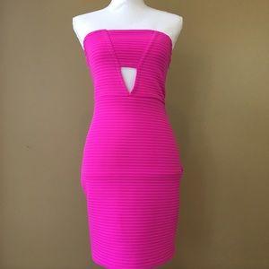 Express cut-out strapless dress